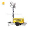 Flexible plug and light tower, Atlas Copco trailer mounted lighting towers
